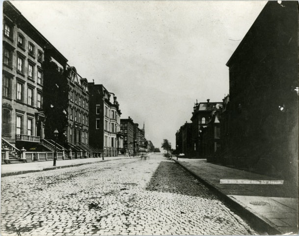 34th Street looking east from Fifth Avenue, 1880