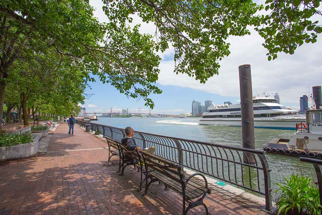 East River Esplanade at FDR Drive and East 34th Street